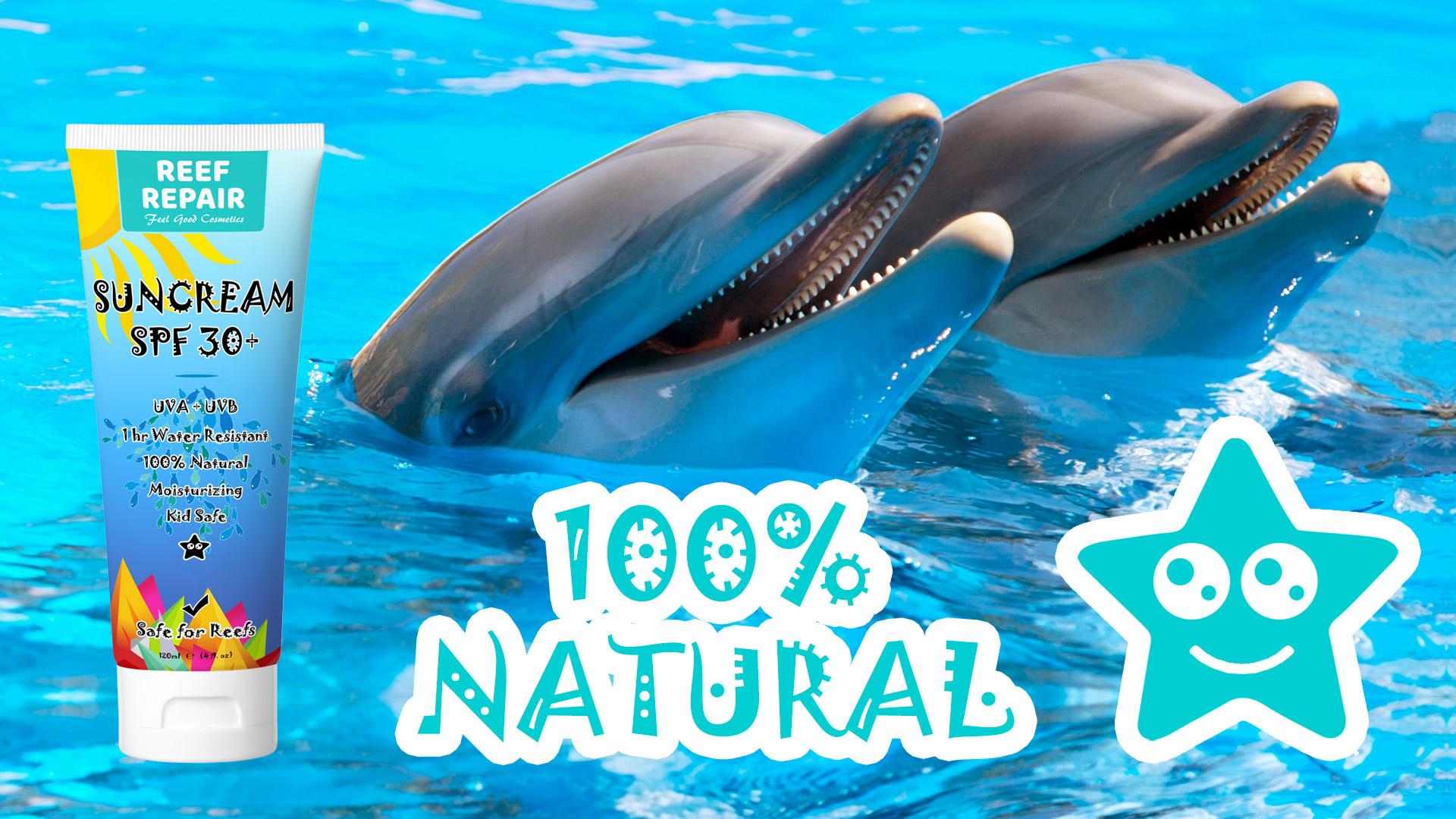 All Natural Coral Reef Safe Sun Cream Sunscreen Spf 30 Reef Repair 120ml