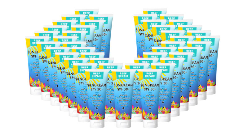 Wholesale 50 Pack Reef Repair Sun Cream 120ml Spf 30 Reef Safe Moisturising Kid Safe All Natural Sunscreen