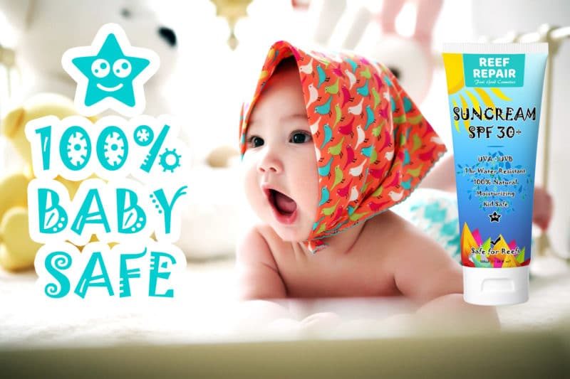 Baby Safe Reef Safe Skin Safe All Natural Sun Cream For Kids By Reef Repair 120ml