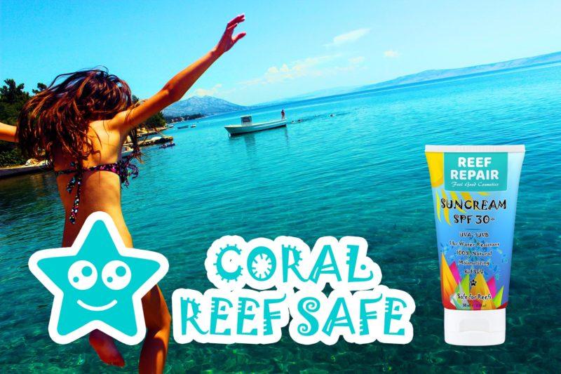 Coral Reef Safe Sun Cream & Sunscreen SPF 30+ Reef Repair 50ml