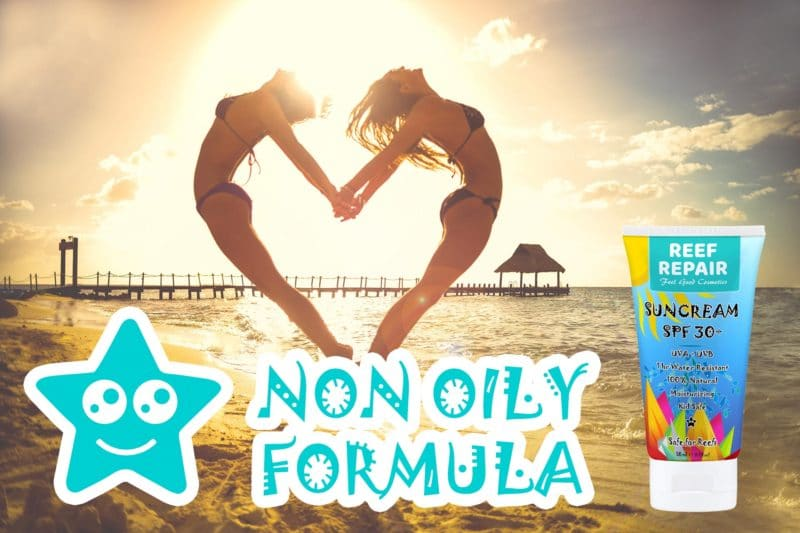 Non Oily Reef Safe Sun Cream For All Skin Types Reef Repair 50ml SPF 30+ Sunscreen