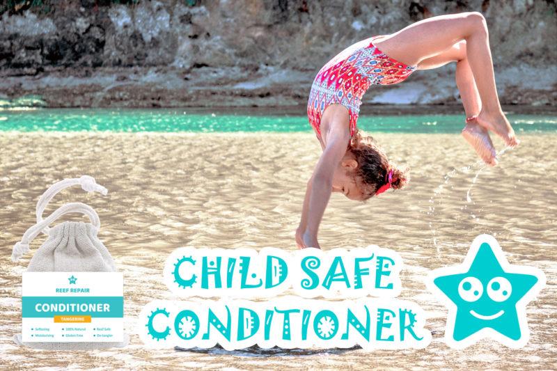 Child Safe Kid Safe Conditioner Bar Tangerine Flavor Reef Safe Hair Care Reef Repair