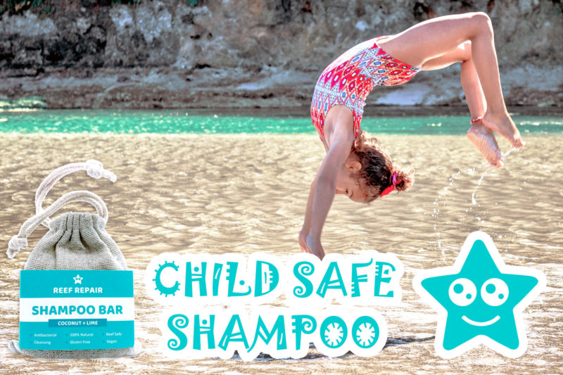 Child Safe Kid Safe Shampoo Bar And Soap Coconut Lime Flavor - Reef Safe Hair Care by Reef Repair