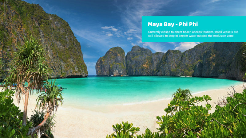 Maya Bay Phi Phi Closed To Direct Beach Tourism