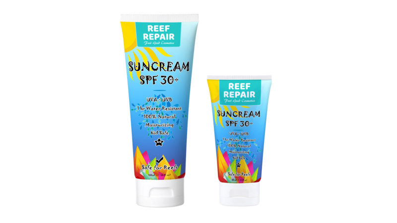 Reef Repair reef safe sunscreens to protect coral reefs