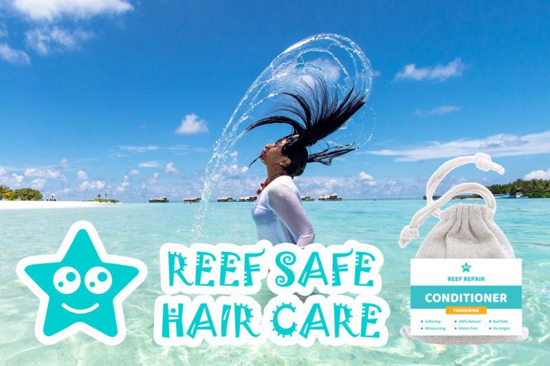 Reef Safe Hair Care Reef Repair Conditioner Bar Tangerine