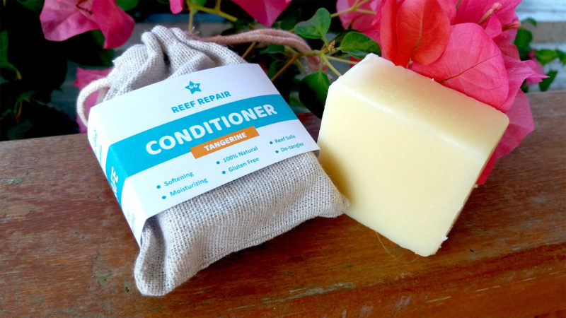 Reef Safe Hair Conditioner Bar Great For After Scuba Diving Tangerine Scent All Natural Kid Safe