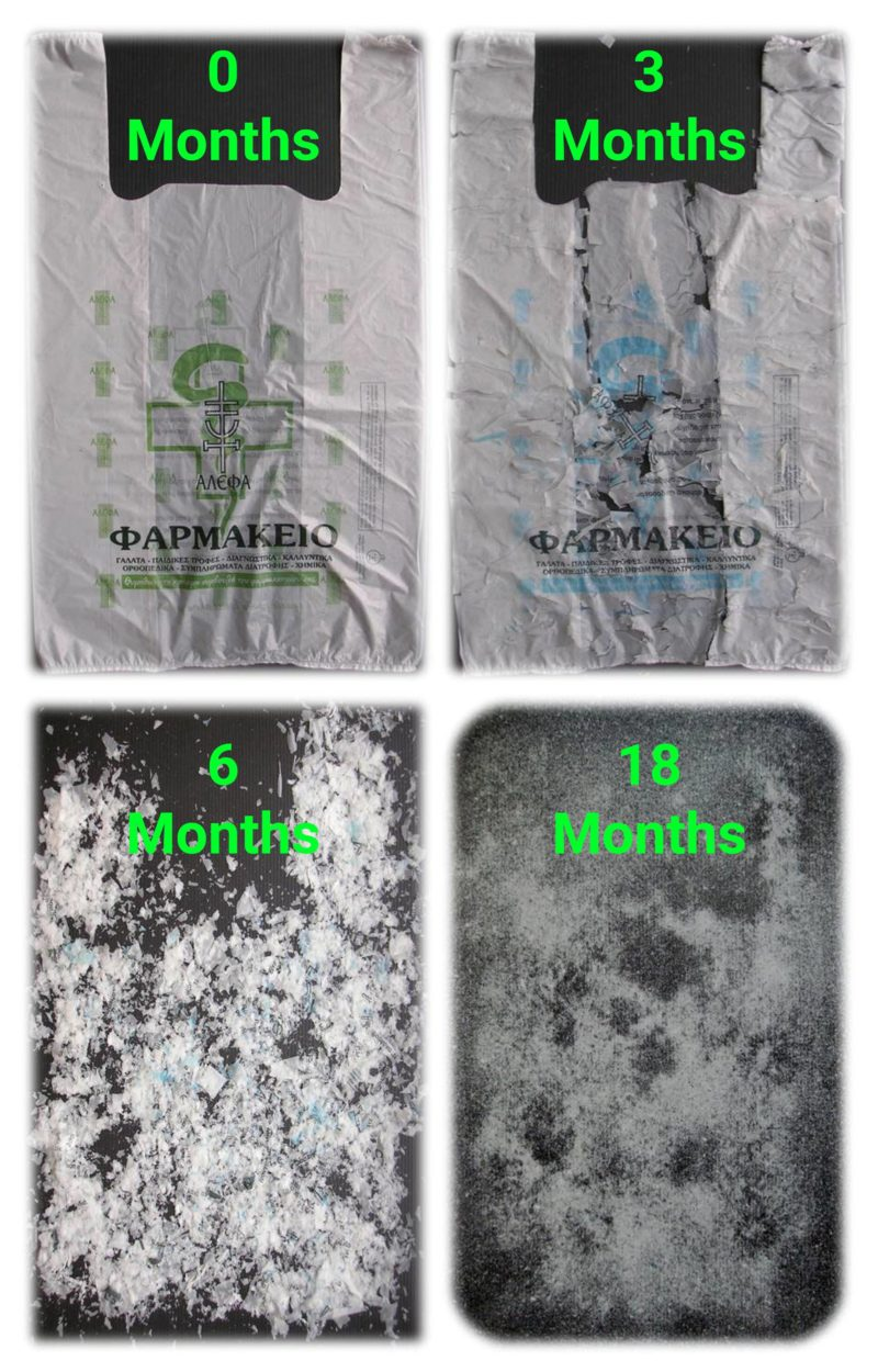 The biodegradability of Biolefin plastic