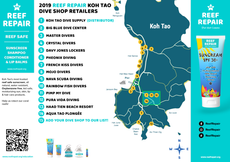Koh Tao Retail Outlets for Reef Repair Sunscreens