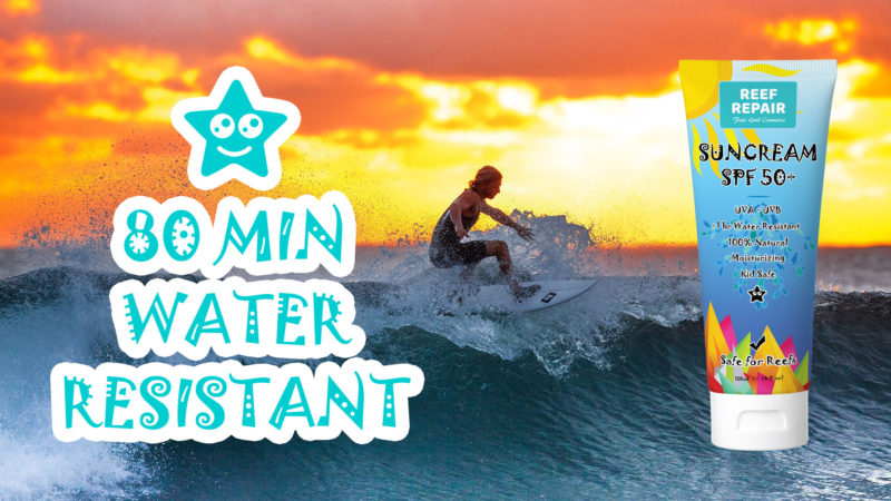 80 Min Water Resistant Reef Safe Sunscreen Help Save Coral Reefs Non Slippery Non Oily 120ml