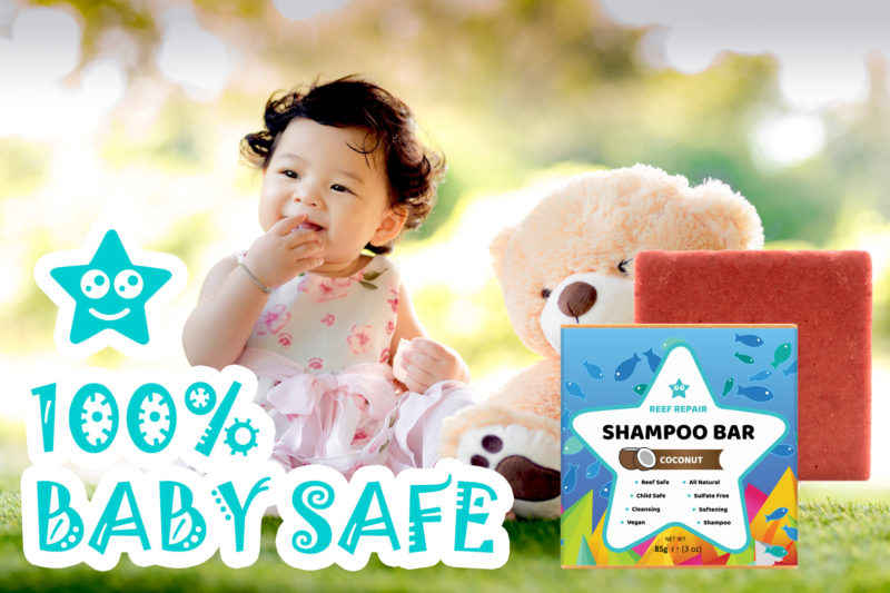 Baby Safe Shampoo Bar Coconut Scented Reef Safe Shampoo Reef Repair Hair Care