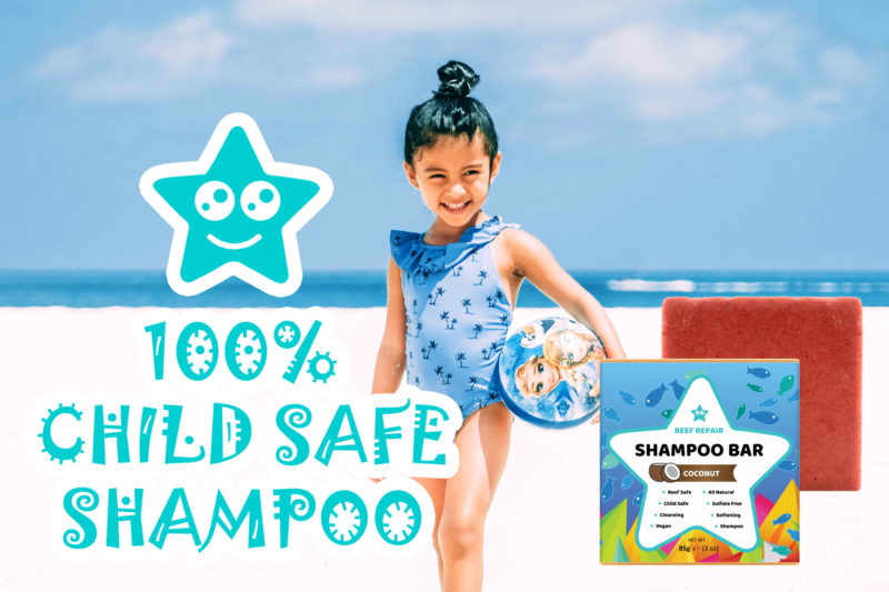 Child Safe Shampoo Bar Coconut Scented Reef Safe Shampoo by Reef Repair Hair Care