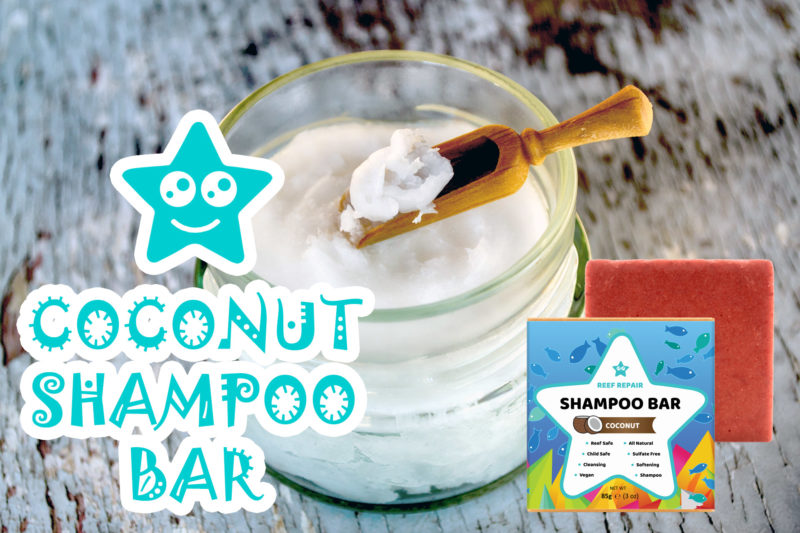 Coconut Reef Safe Shampoo Bar by Reef Repair Hair Care