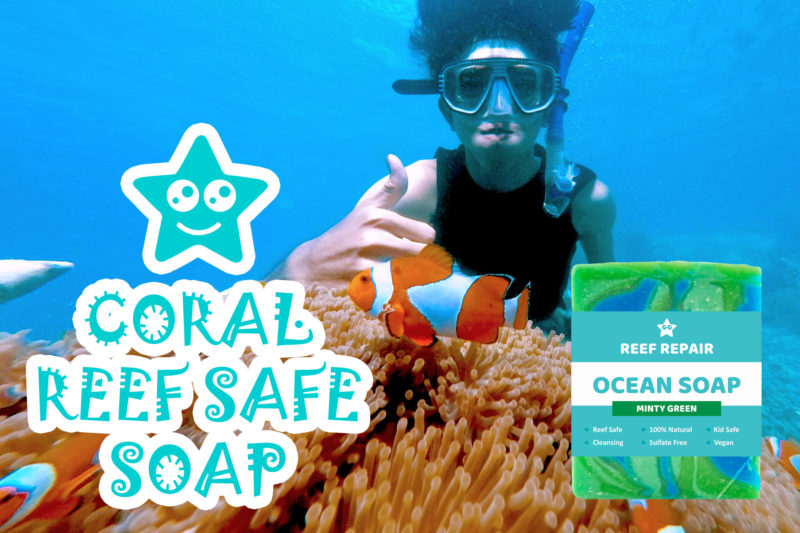 Coral Reef Safe Soap Minty Green Scent Reef Repair Skin Care