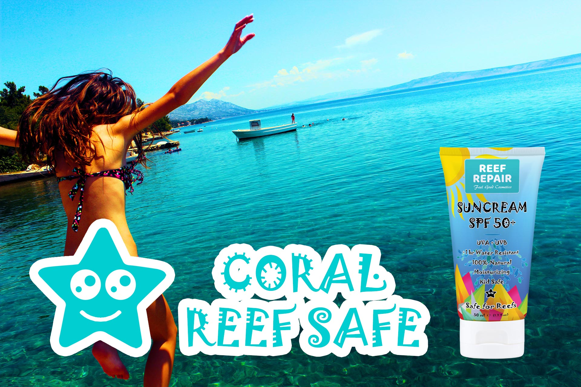 Coral Reef Safe Sunscreen Spf 50 Broad Spectrum Protection By Reef Repair 50ml