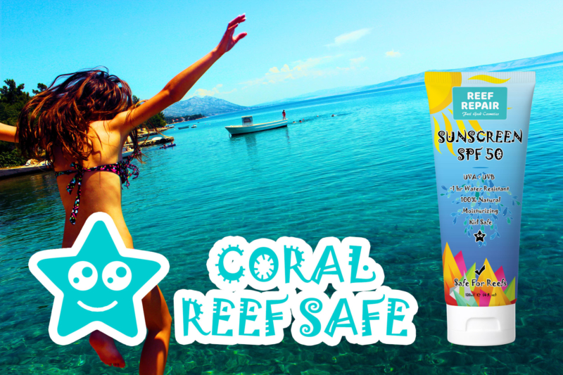Coral Reef Safe Sunscreen SPF 50 Broad Spectrum Protection By Reef Repair 120ml