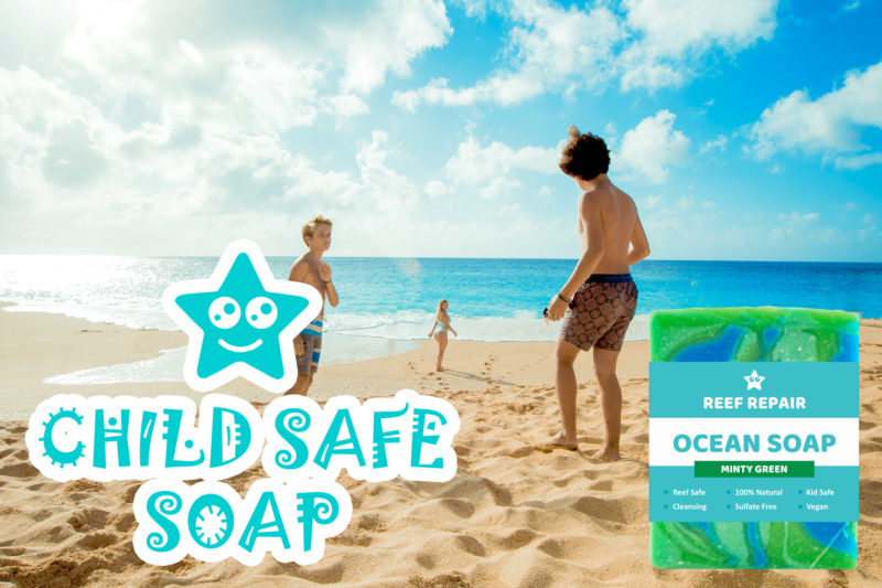 Kid Safe Reef Safe Soap Minty Green Reef Repair Skin Care