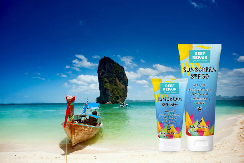 Made In Thailand Reef Repair SPF 50 Reef Safe Sunscreen Sun Care Products