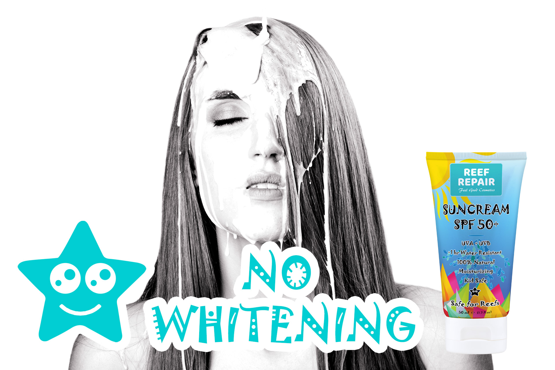 Non Whitening Reef Safe Sunscreen For All Skin Types By Reef Repair Sun Care 50ml