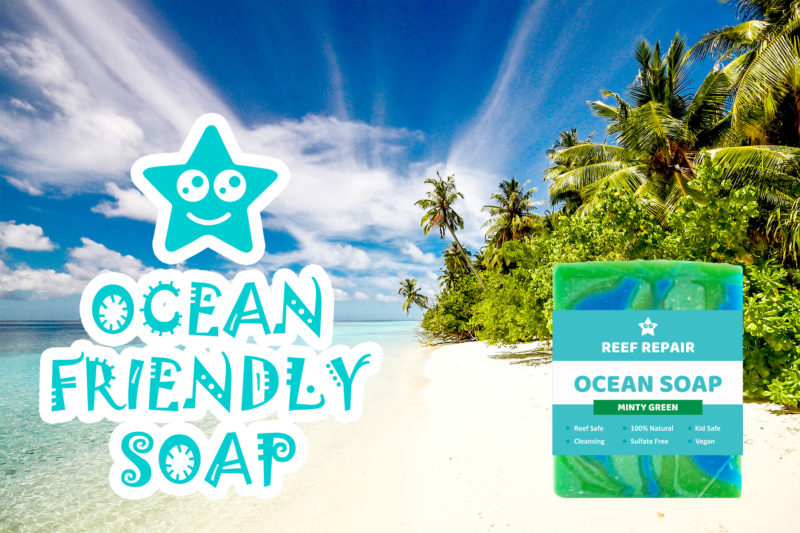 Ocean Safe Soap Minty Ocean Green Reef Safe Soap Reef Repair Skin Care