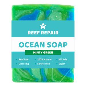 Reef Safe Soap, Minty Green, Ocean Soap – 90g
