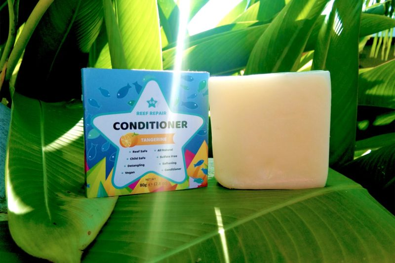 Reef Safe Conditioner Bar 80g Tangerine Scented Softening Detangling Kid Safe All Natural Vegan Paraben Free Hair Conditioner
