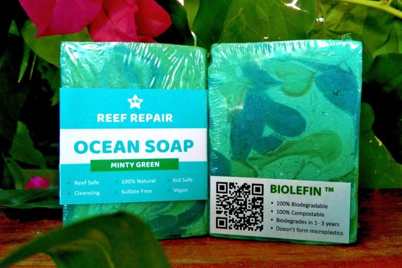 Minty Green Ocean Soap Cleansing All Natural Vegan Paraben Free Bar