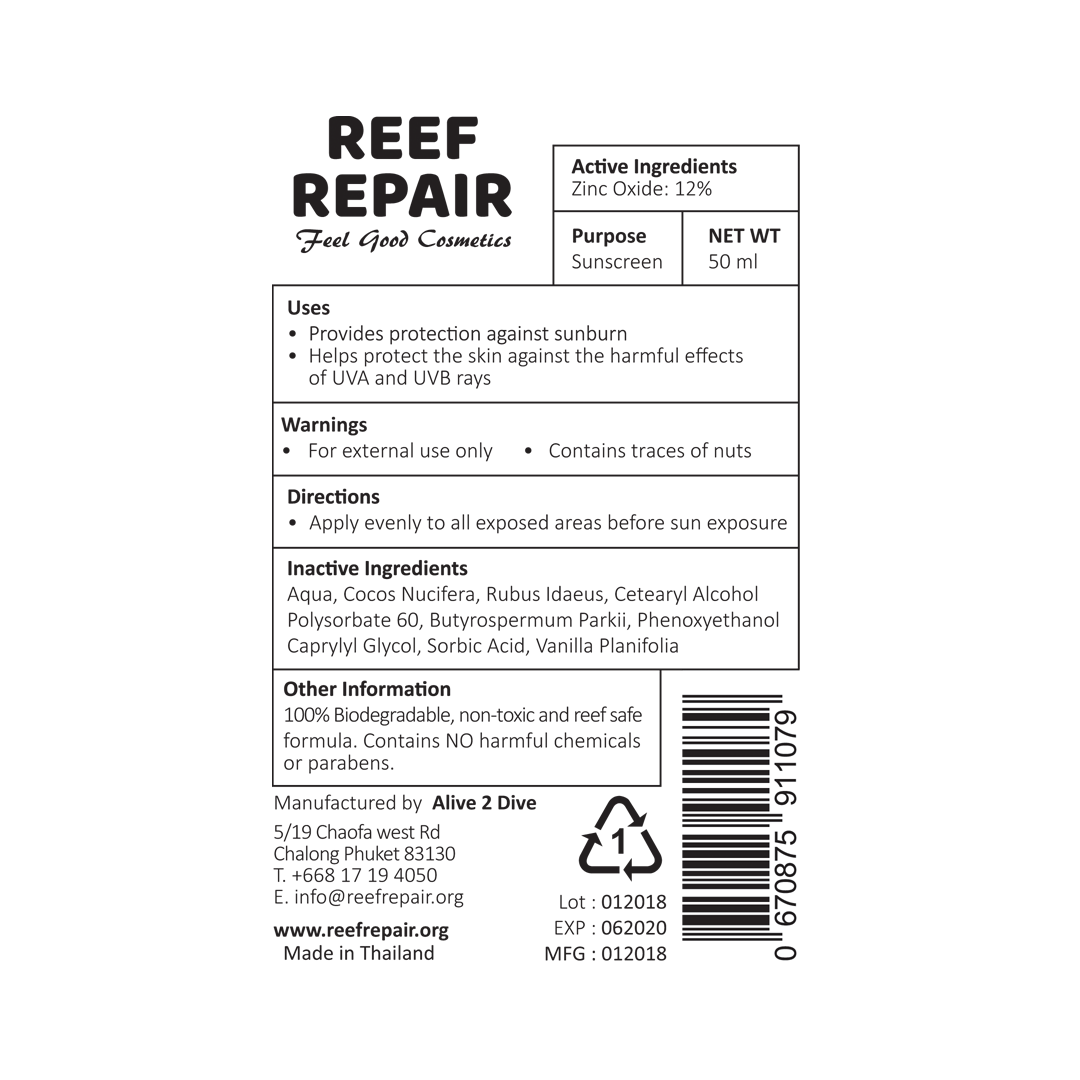 Reef Safe, Sun Cream 50ml - SPF 20+