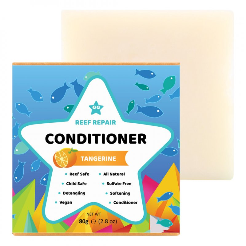 Reef Safe Conditioner Bar, Tangerine – 80g